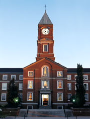 Clock Tower building at sunset